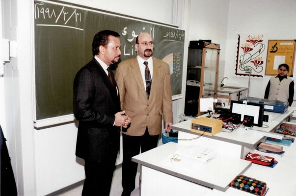 His Majesty The Sultan of Brunei with Dr. Norman Ali Khalaf, Bonn, Germany, 1998