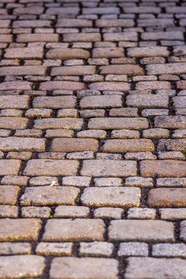 historic street stones - Dresden