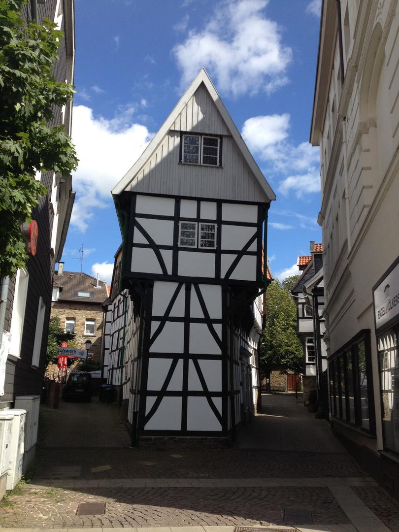 Historische Altstadt Hattingen - Bügeleisenhaus