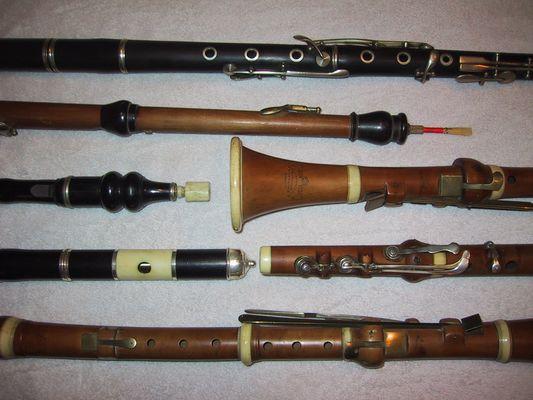 Historische Holzblasinstrumente