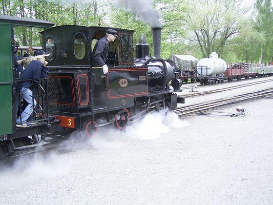 Historische Kleinbahn in Gripsholm