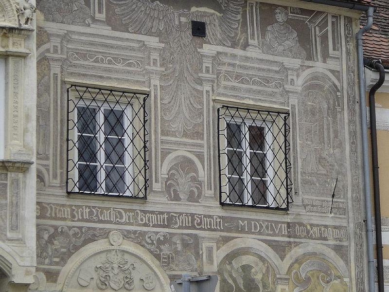 historische Malerei und Architektur