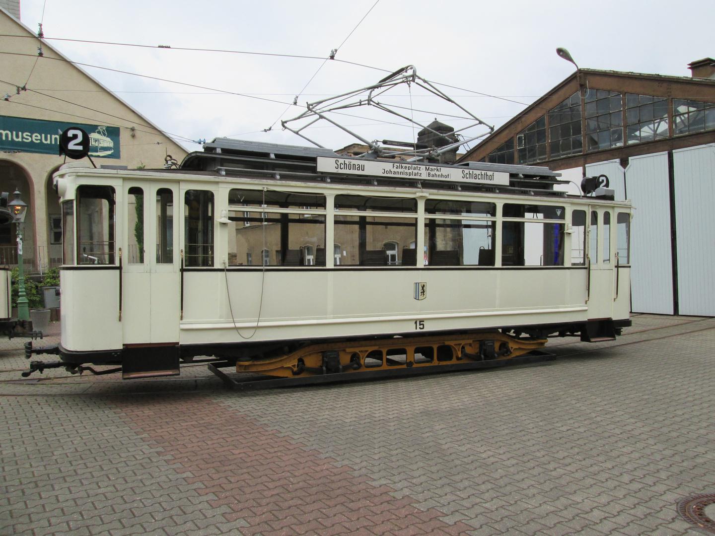 Historische Straßenbahn In Chemnitz Kappel