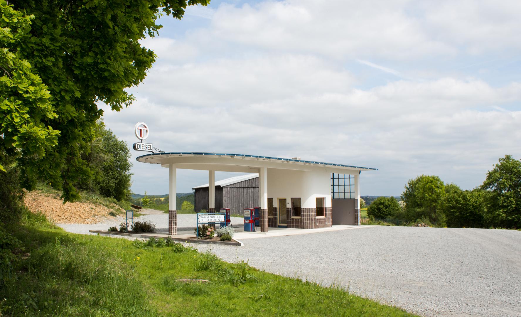 Historische Tankstelle im Freilichtmuseum Detmold