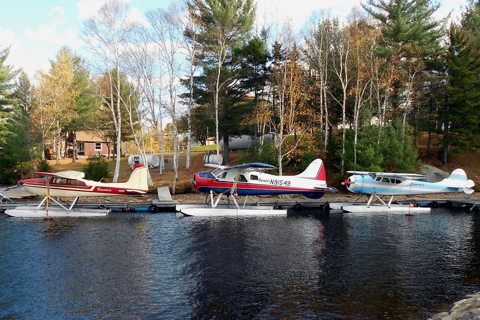 Historische Wasserflugzeuge am Moosehead Lake USA