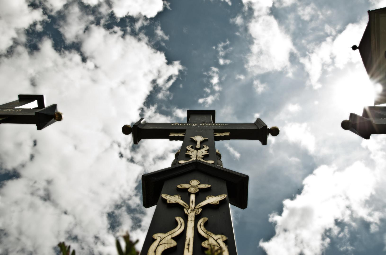 Historischer Friedhof in Segringen bei Dinkelsbühl