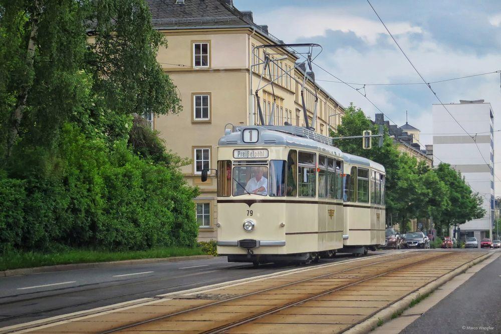 Historischer Gothazug der Plauener Straßenbahn