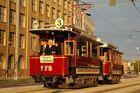 Historischer Triebwagen 179 in schönster Abendsonne