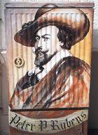 Historisches in der Stadt Siegen, Am Herrengarten, gemalt auf einem Stromkasten.