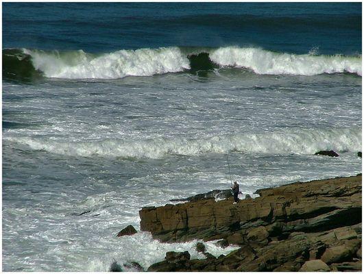 Hiver et la mer au Portugal