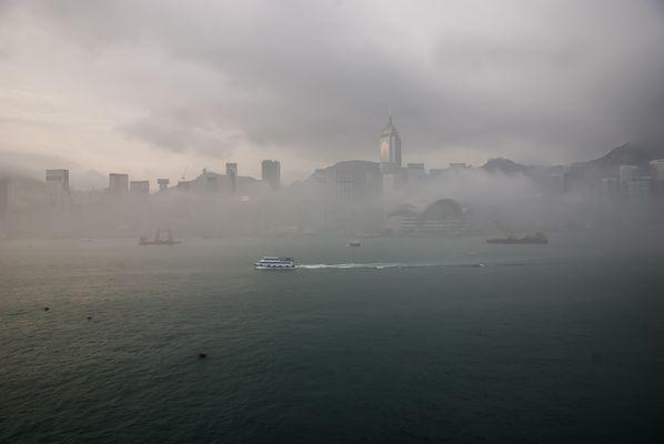 HK aus Kowloon gesehen