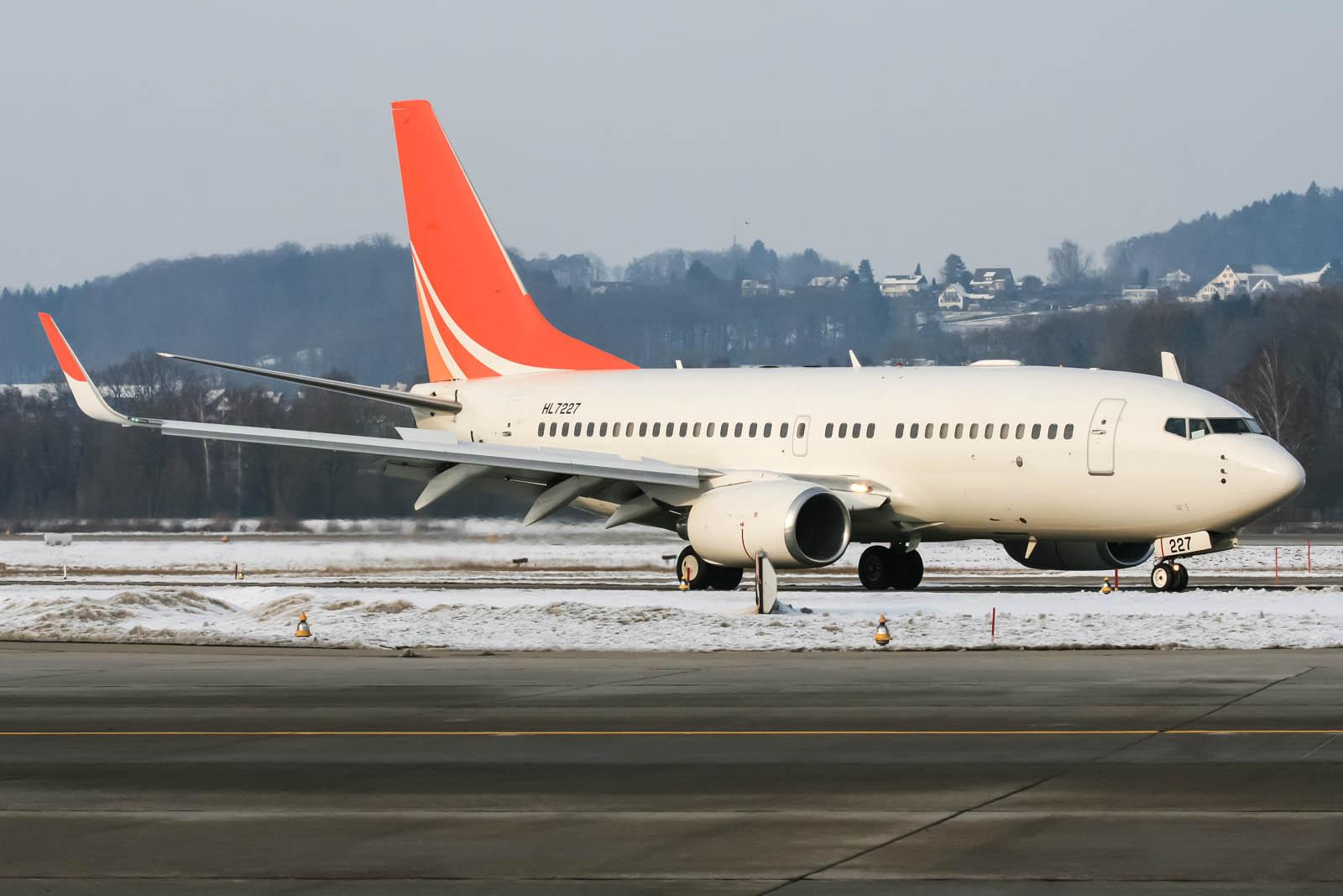 HL7227 Hanwha Chemical Corp Boeing 737-7HF(BBJ)