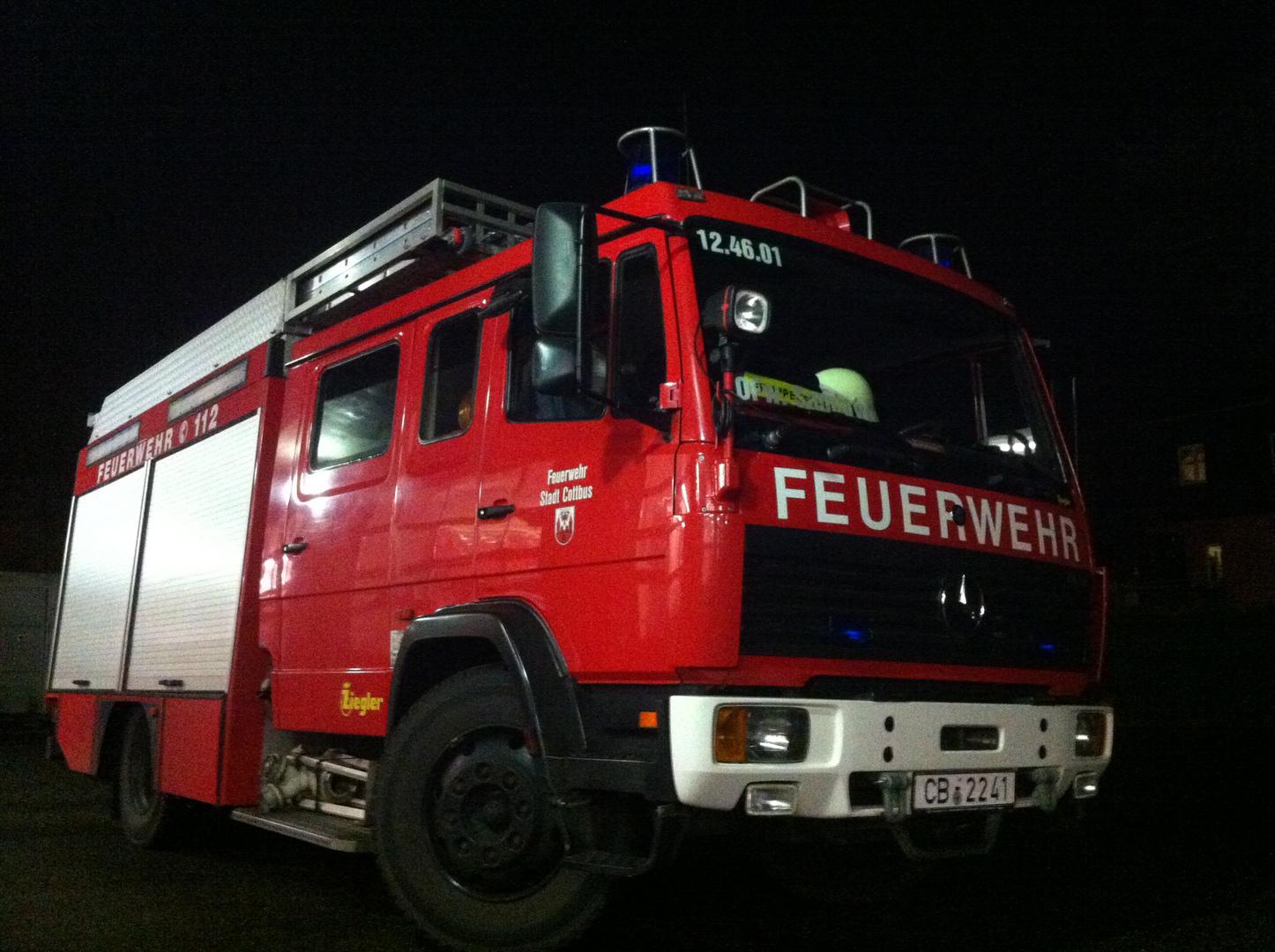 HLF der Feuerwehr Cottbus Löschzug Sandow