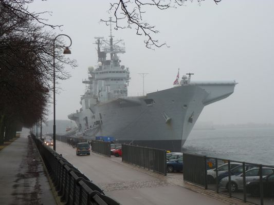 HMS Illustrious at Langelinie, Copenhagen