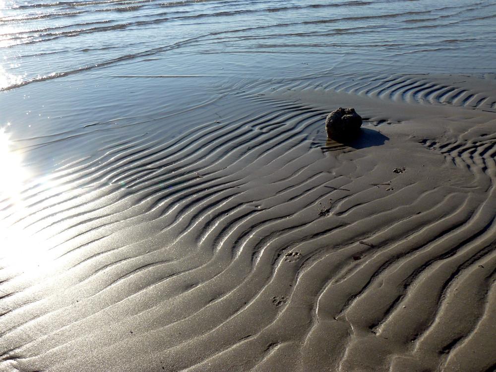 Ho scritto t'amo sulla sabbia.