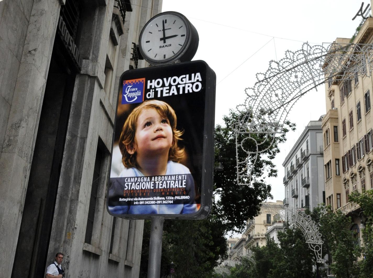 ho voglia di teatro, Palermo Sicilia