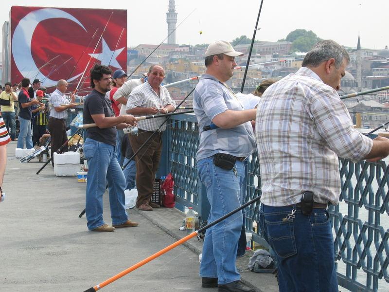 Hobbyangler in Istanbul