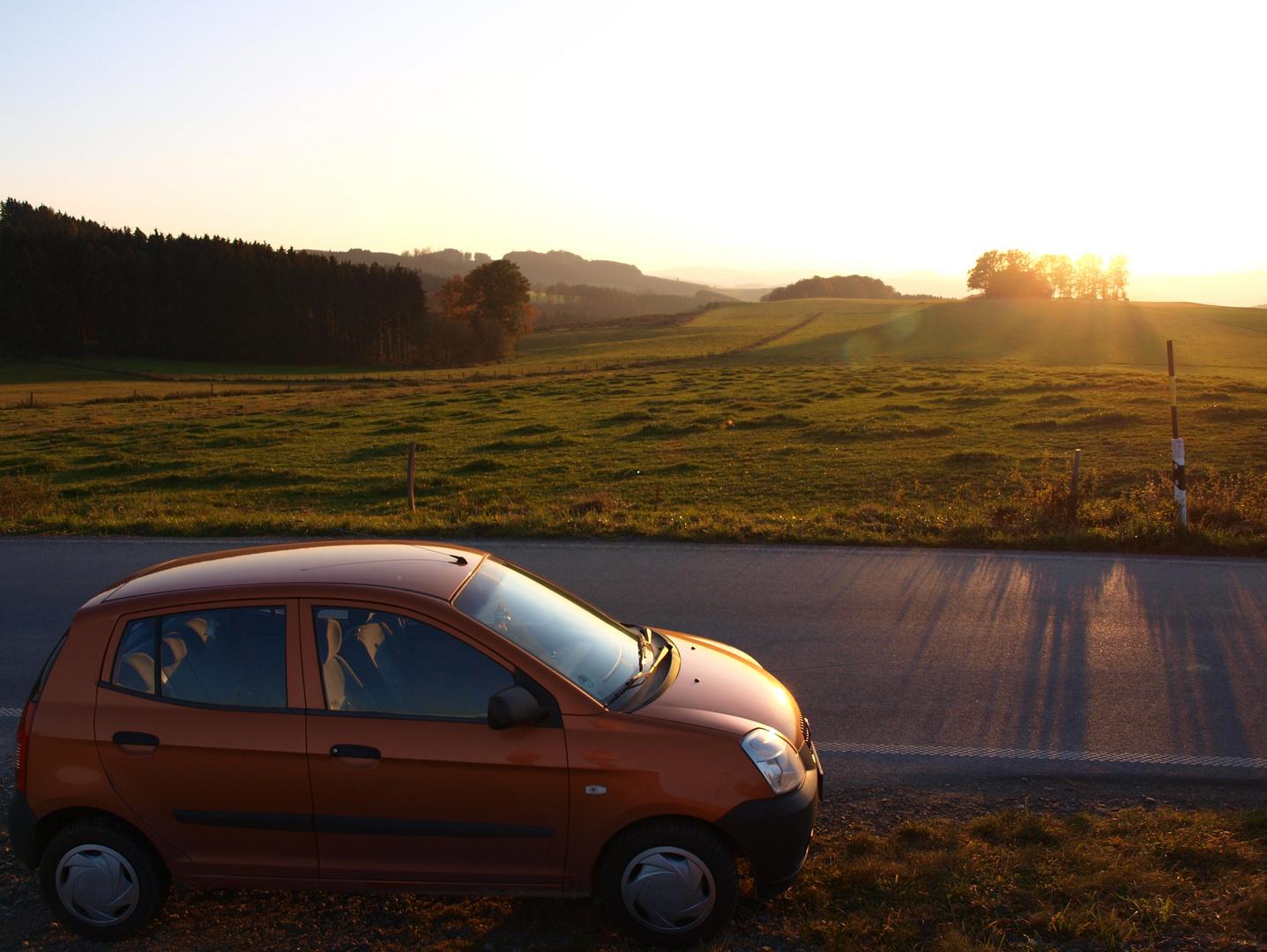 hoch oben im Sauerland steht (m)ein kleines Auto ...
