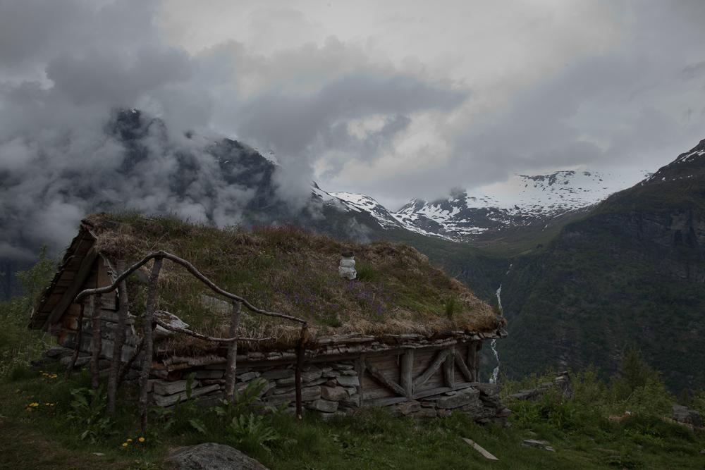 hoch über dem Geirangerfjord