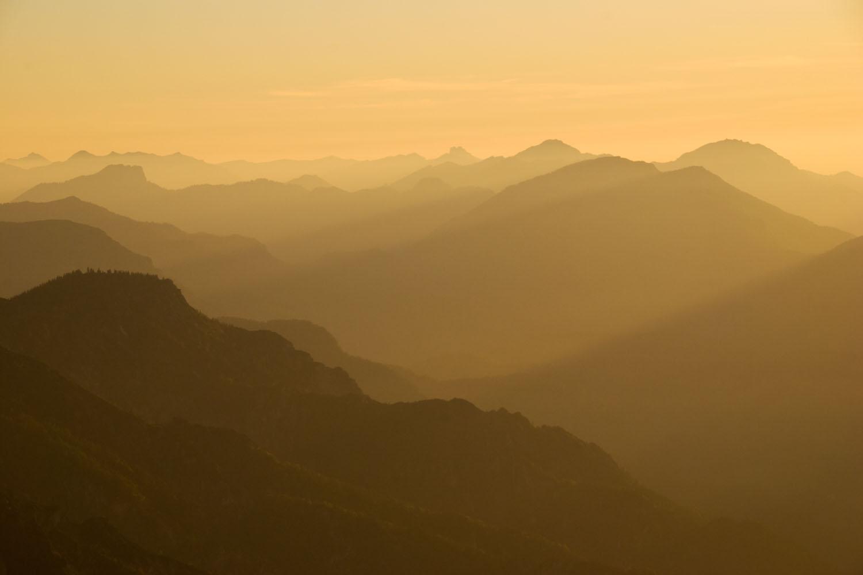 Hoch über den Bergen