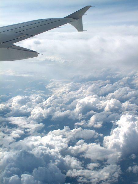 Hoch über den Wolken