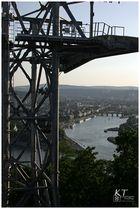 Hoch über Koblenz.....