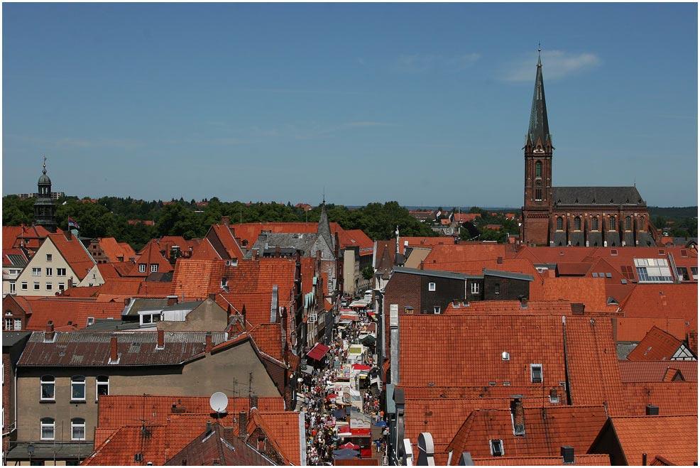 Hoch über Lüneburg......