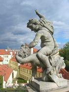 Hoch über Prag