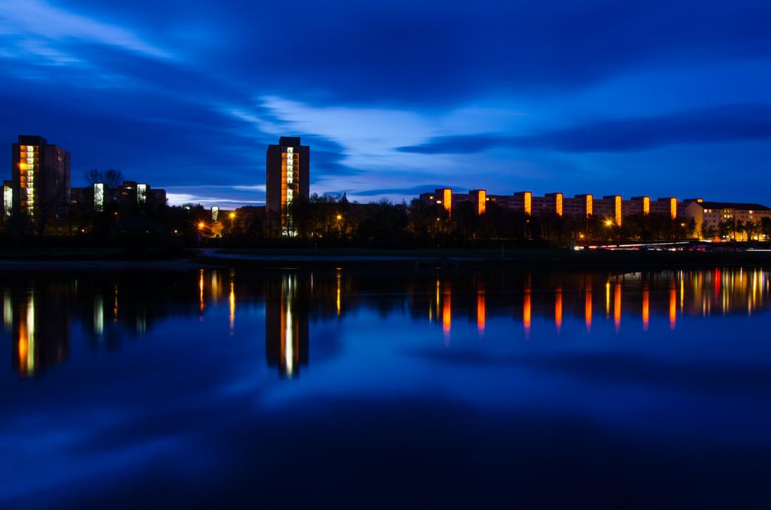 Hochhaus Blue