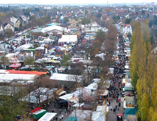 Hochheim - Markt von oben