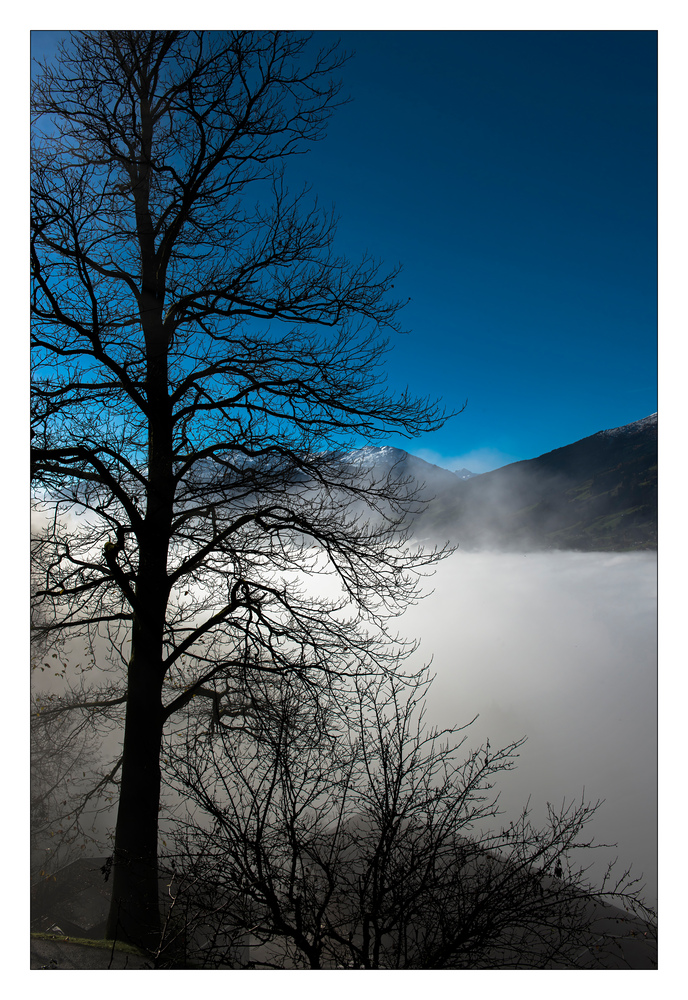 Hochnebel über dem Zillertal