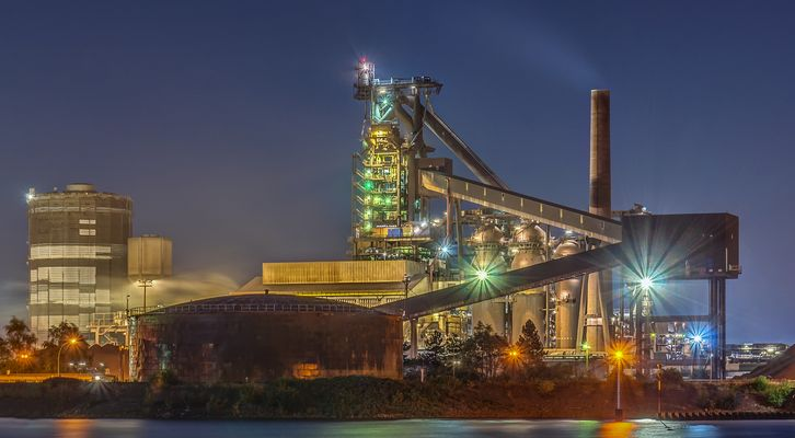 Hochofen im Bremer Stahlwerk