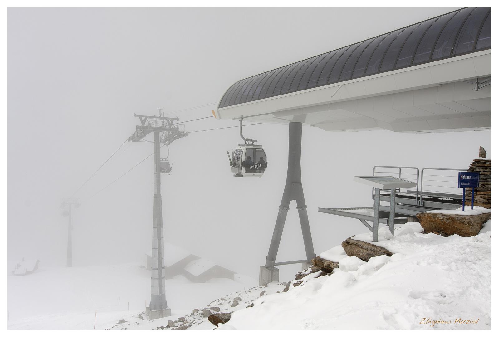 Hochsaas im Nebel