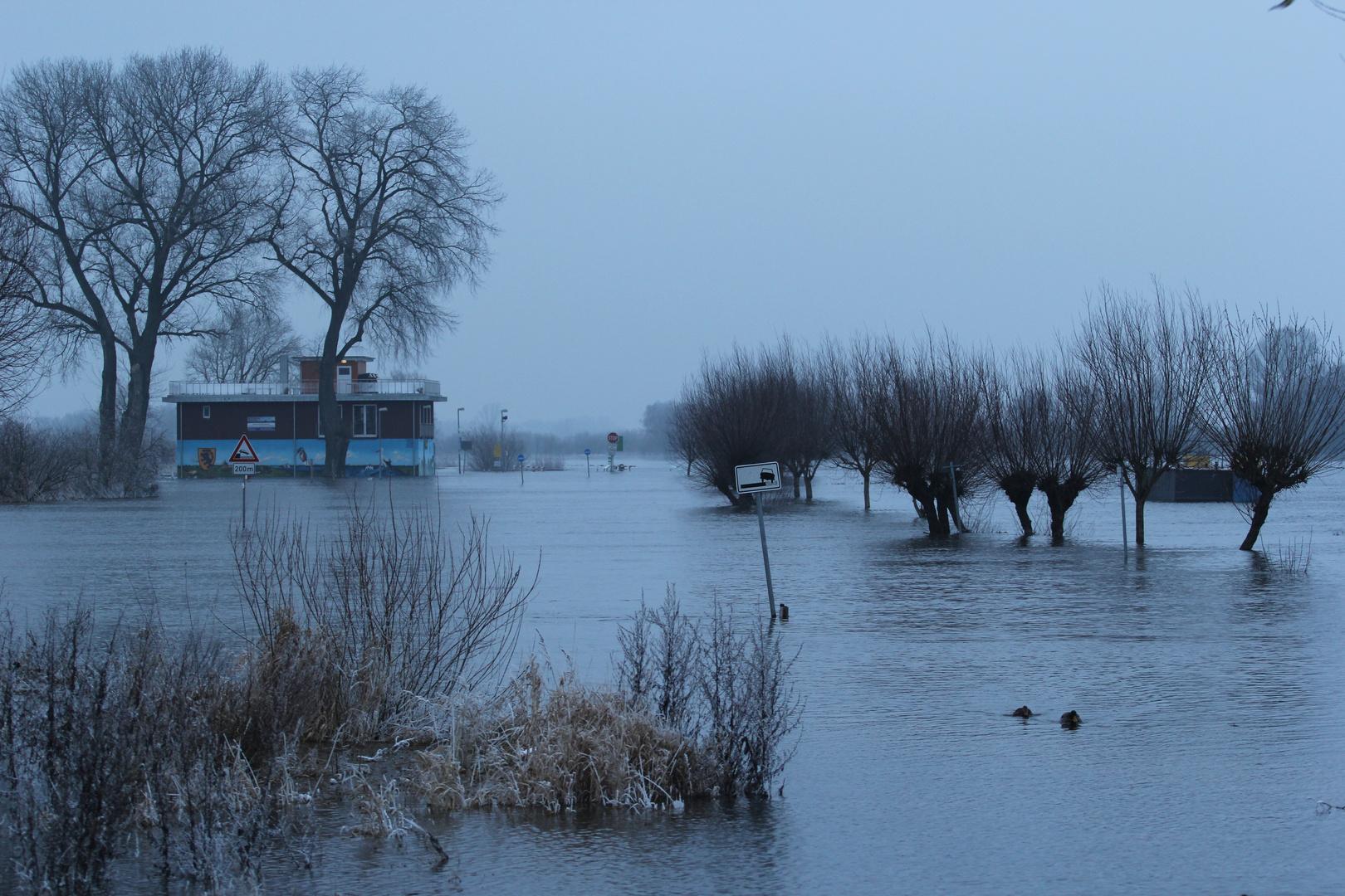 Hochwasser 2013, Bleckeder Fährhaus
