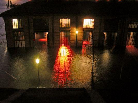 Hochwasser am Fischmarkt
