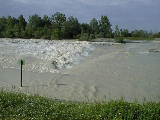 Hochwasser am Lech