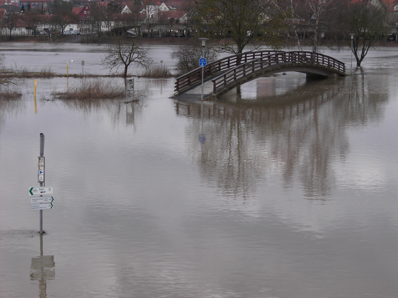 Hochwasser an der Saale (Bad Neustadt )