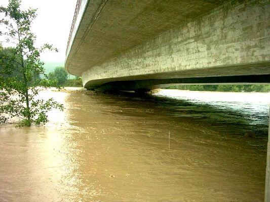 *Hochwasser* Illerbrücke Krugzell