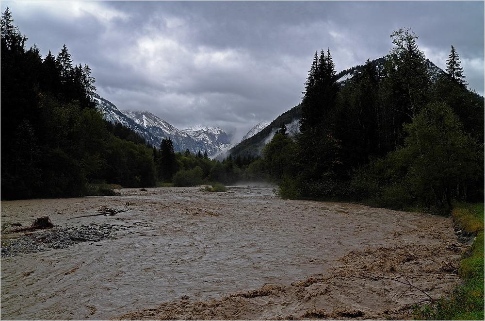 Hochwasser im Trettachtal