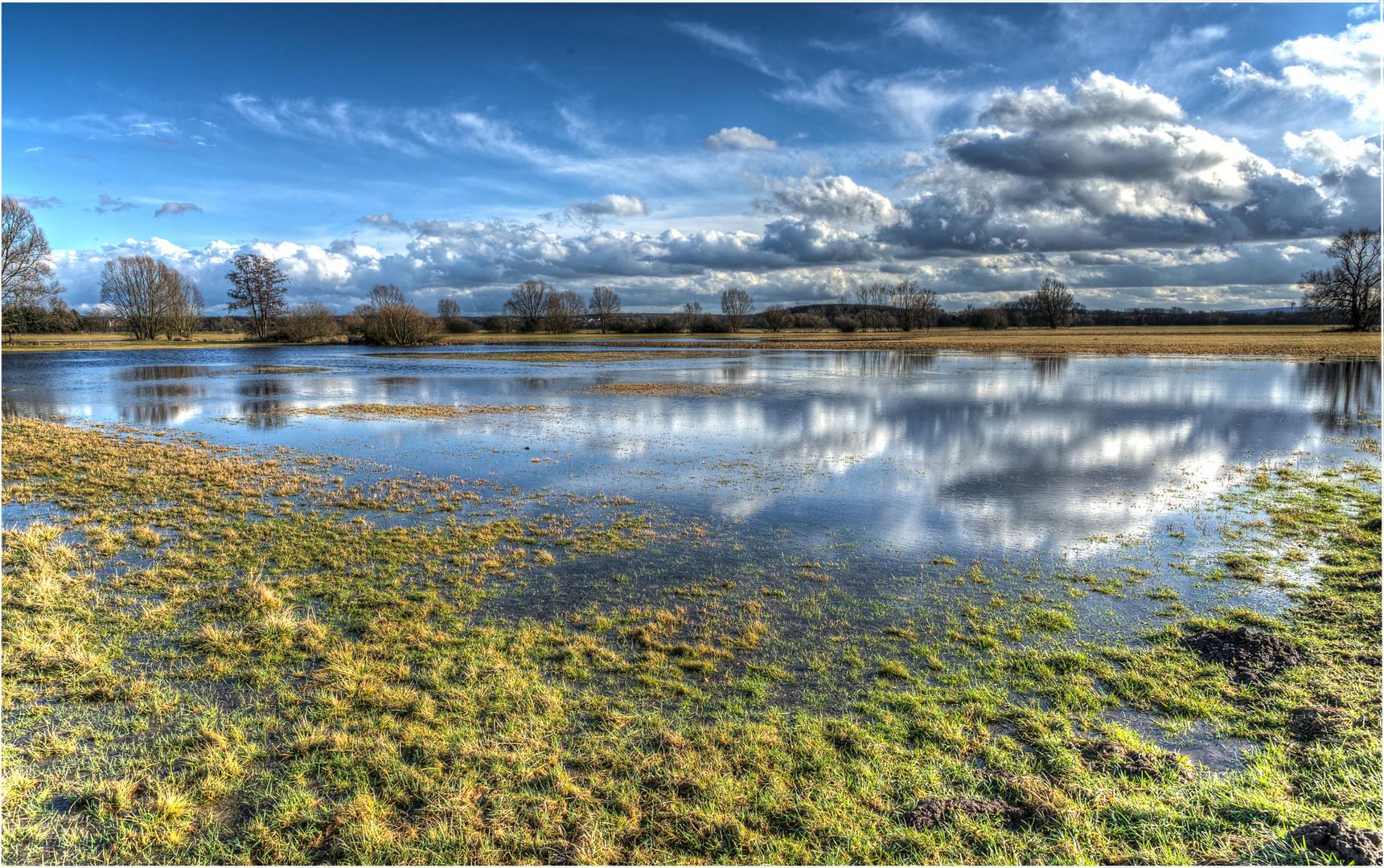 Hochwasser in den Lahnwiesen 1