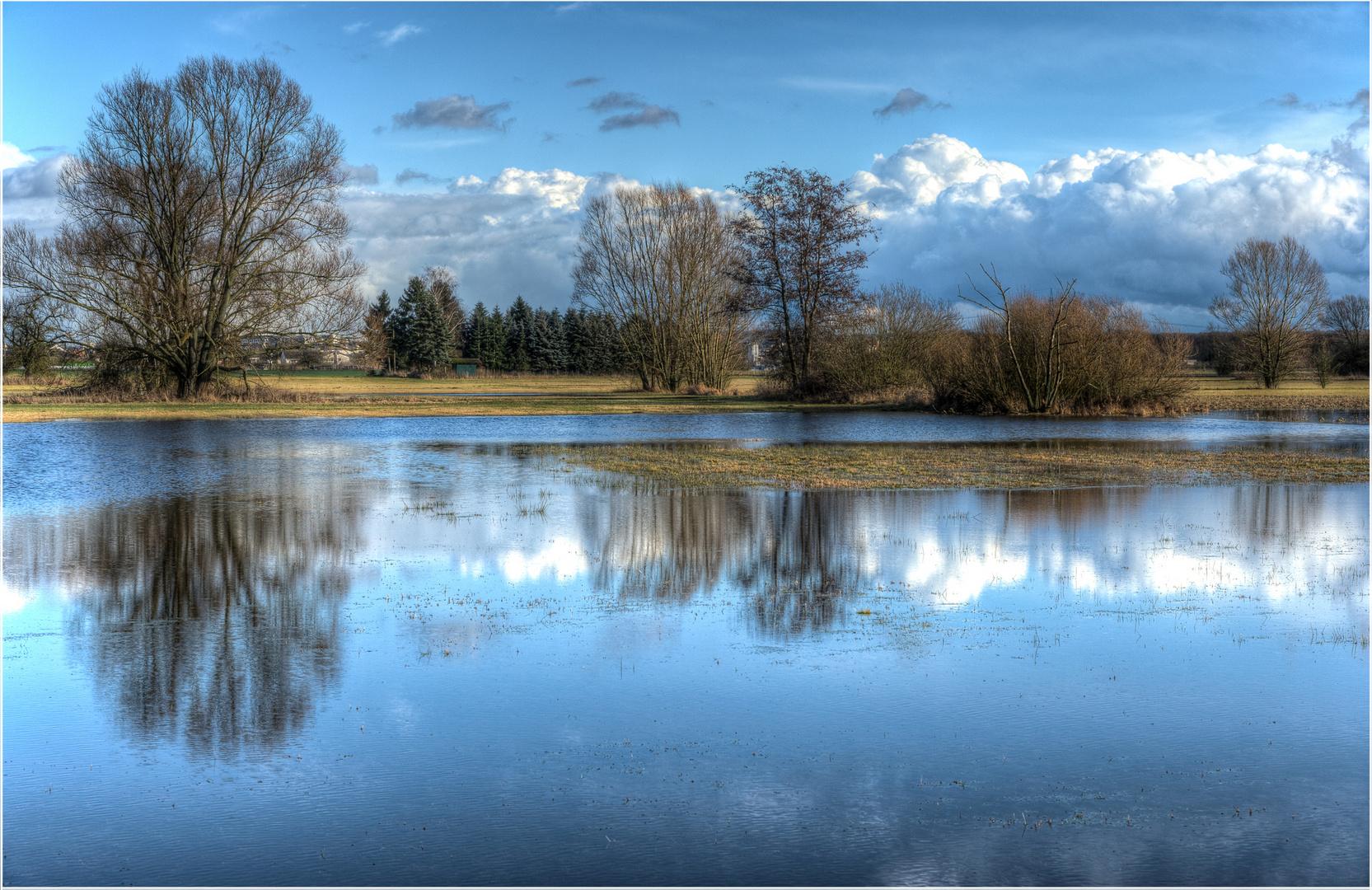 Hochwasser in den Lahnwiesen 2