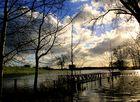 Hochwasser in den Rheinauen