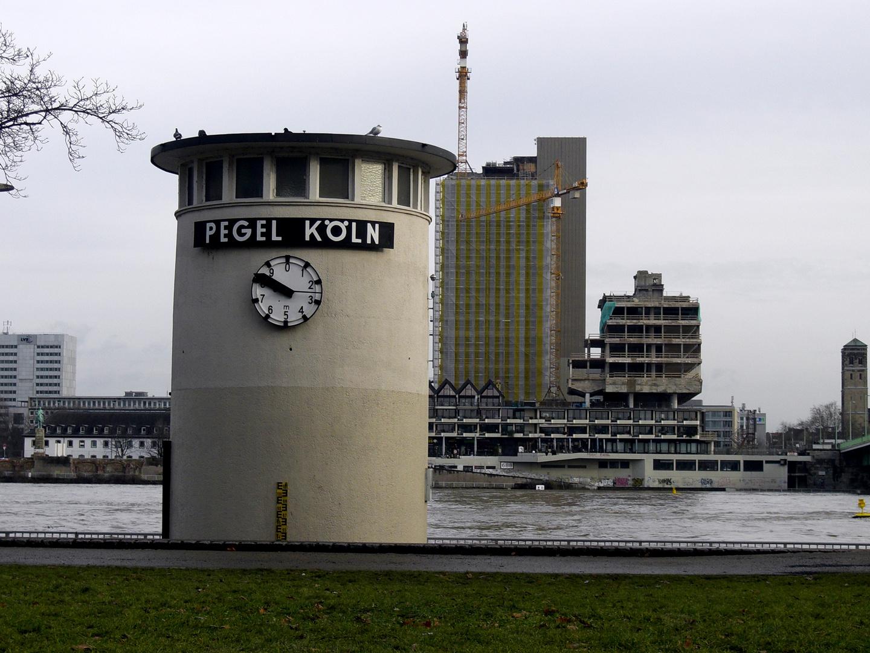 Hochwasser in der Kölner Altstadt