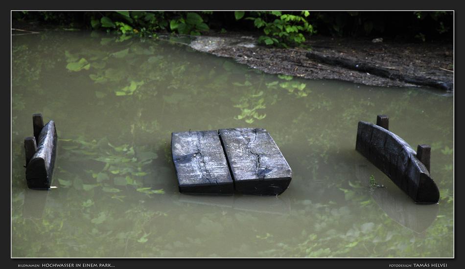 Hochwasser in einem Park