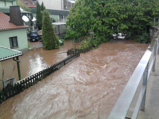 Hochwasser in Mülsen