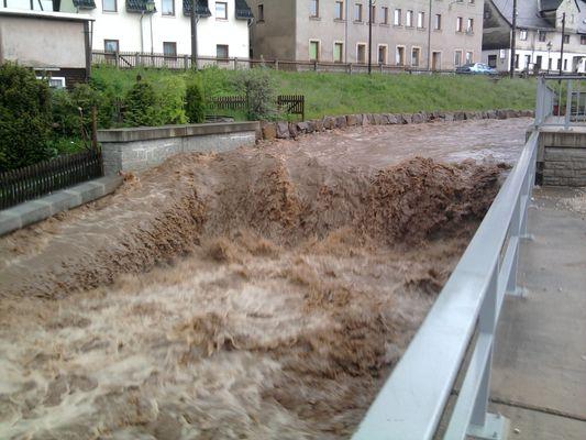 Hochwasser in Mülsen (Bild 2)