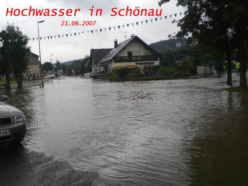 Hochwasser in Schönau