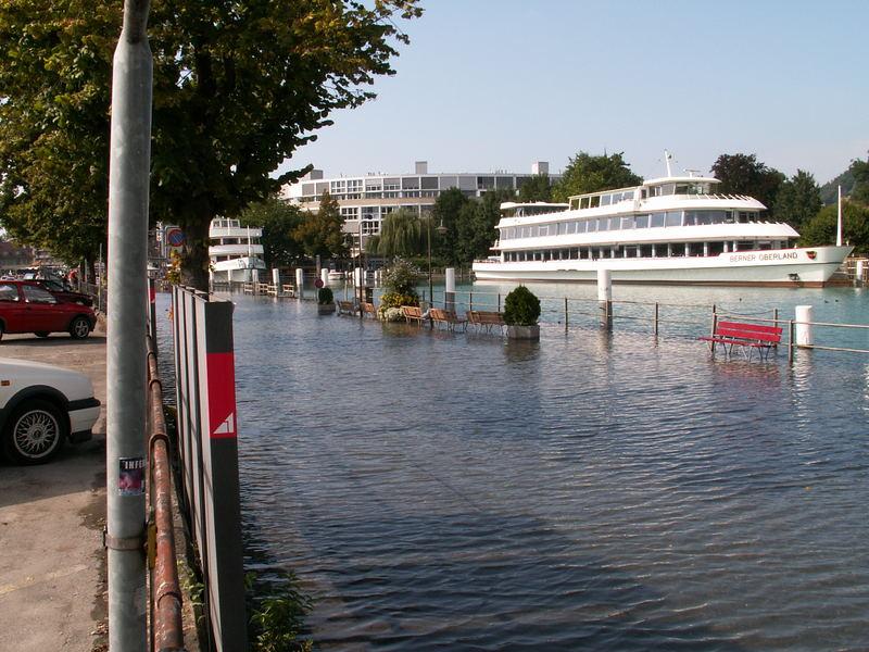 Hochwasser in Thun