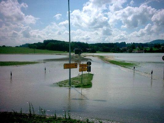 *Hochwasser* Kreisverkehr Umgehung Krugzell 2