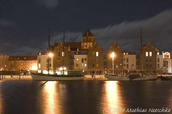 Hochwasser Museumshafen Greifswald 23.11.04